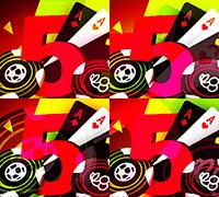 комбинация 4 пятерки на Покердом