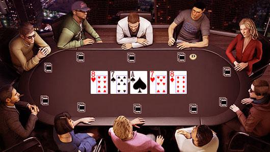 Игроки за покерным столом